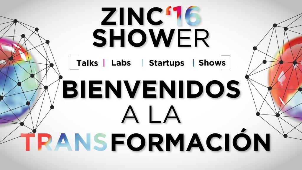 Zinc Shower Bienvenidos a la transformacion