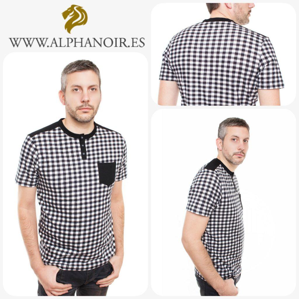 tendencias moda hombre camiseta cuadros manga corta