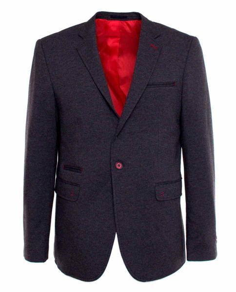 blazer formal gris de hombre