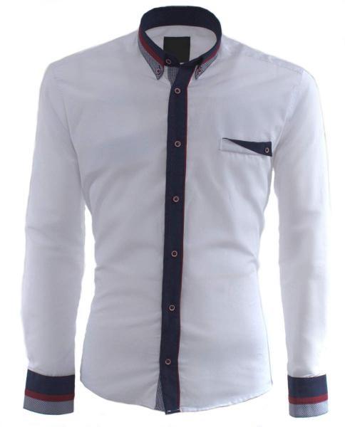 camisa blanca casual informal de hombre