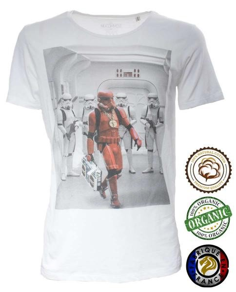 camiseta blanca stormtrooper star wars