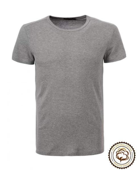camiseta gris de manga corta