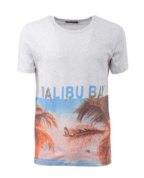 camiseta malibu bay print casual