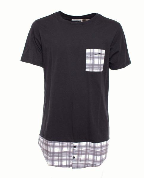 camiseta negra de hombre basica