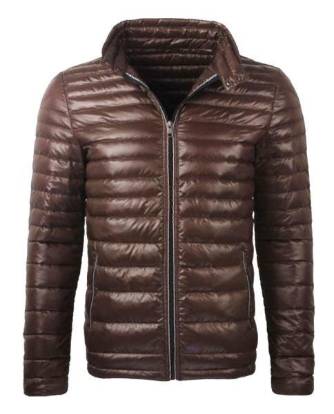 chaqueta acolchada marron casual
