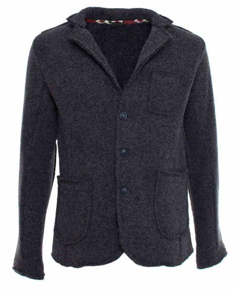 chaqueta blazer gris de hombre