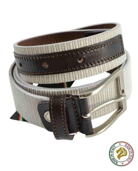 cinturon blanco italiano de hombre