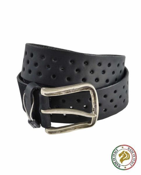 cinturon negro informal de hombre