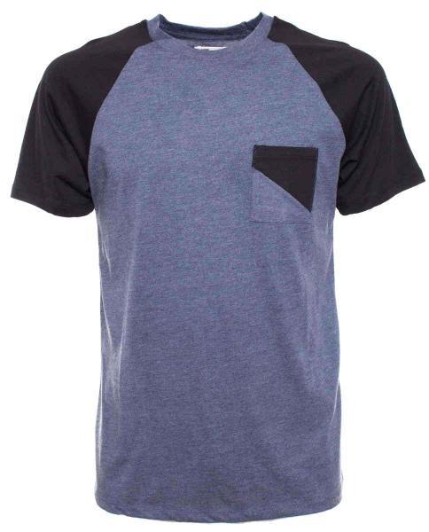 comprar camiseta basica azul de hombre