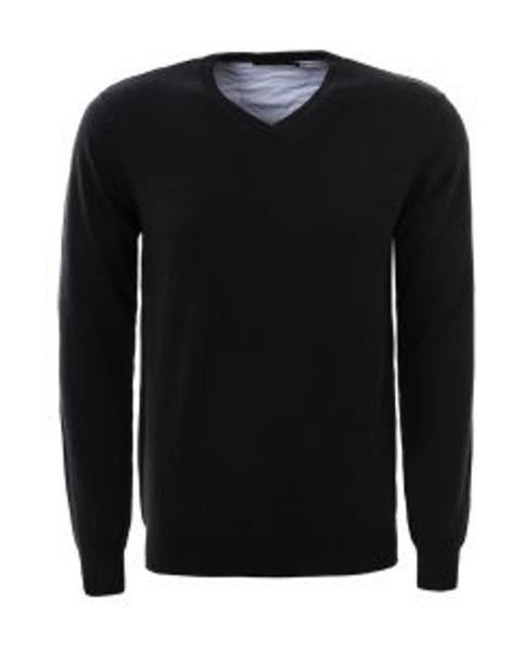 jersey negro de punto para hombre