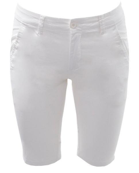 pantalon corto blanco de algodon