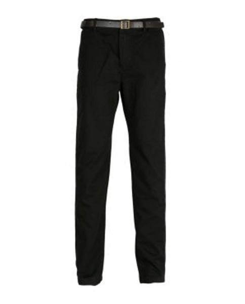 pantalones pitillo negro con cinturon