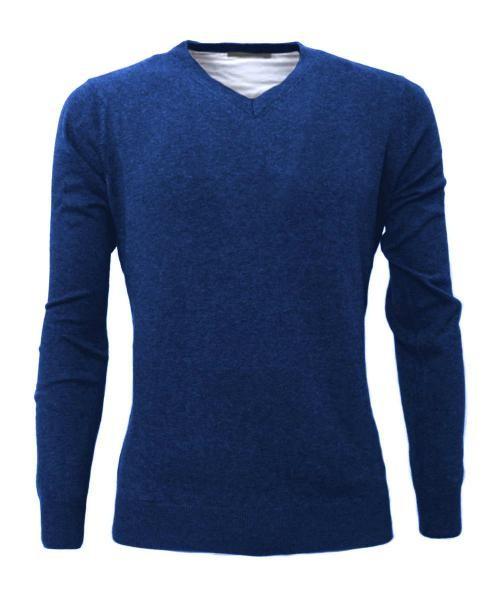 pullover azul de punto informal