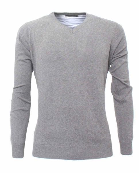 pullover gris claro para hombre