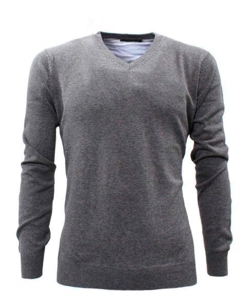 pullover gris oscuro formal para hombre