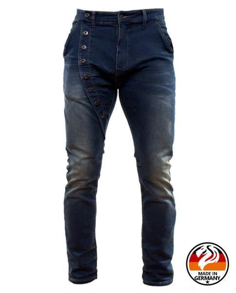slim fit jeans asimetrico