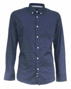 camisa de hombre manga larga topos