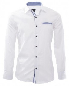 camisa formal blanca de manga larga