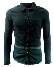camisa verde estampada tartan