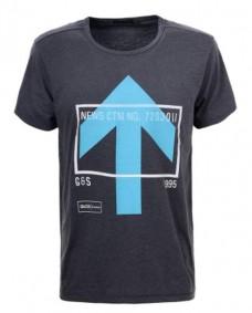 camiseta casual print de manga corta