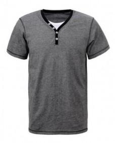 camiseta de algodon cuello doble