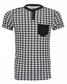 camiseta de cuadros para hombre