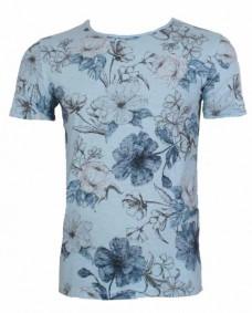 camiseta de flores de manga corta