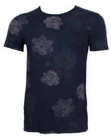 camiseta de manga corta floral print