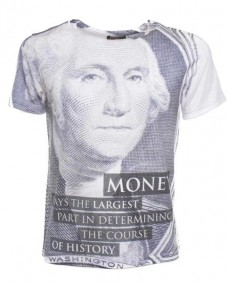 camiseta estampada de manga corta george washington
