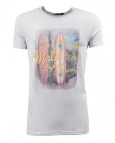 camiseta gris surf print