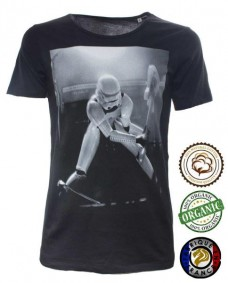 camiseta negra star wars guitar hero