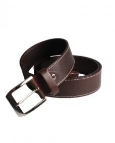 cinturon marron de piel para hombre