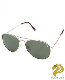 gafas de sol de aviador polarizadas doradas