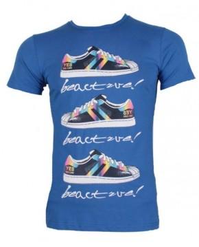 Camiseta Basica Casual Print Azul