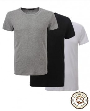 Pack de 3 Camisetas Básicas de Algodón