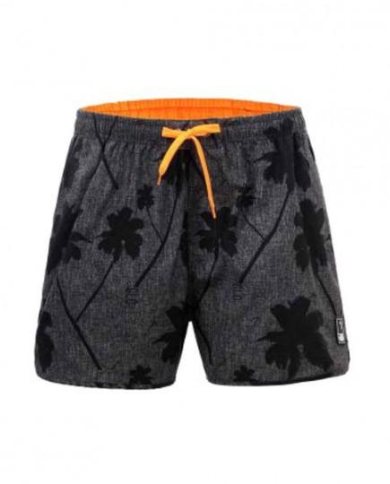 Bañador Short para Hombre con Estampado Gris