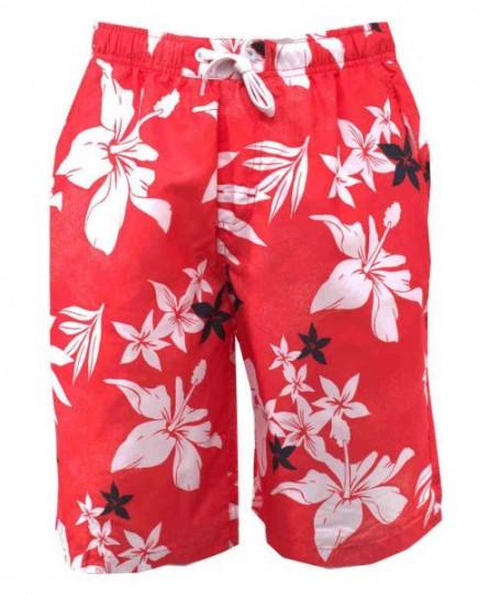 Bañador Short Rojo Estampado