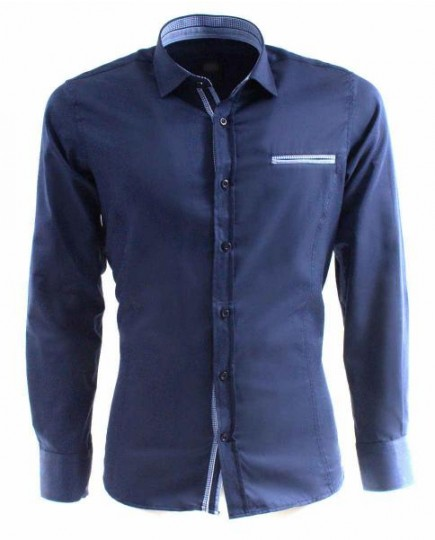 Camisa Azul Marino Formal