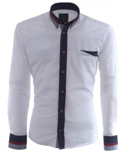 Camisa Blanca de Manga Larga para Hombre