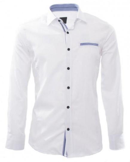 Camisa Formal Blanca de Manga Larga