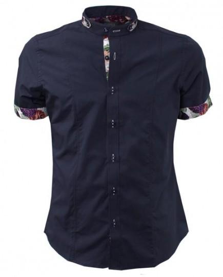 Camisa Negra Informal Estampada