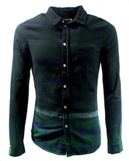 Camisa Verde a Cuadros de Manga Larga