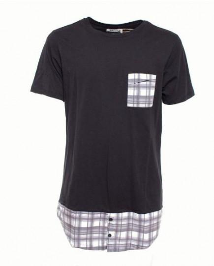 Camiseta Negra de Manga corta con Estampado