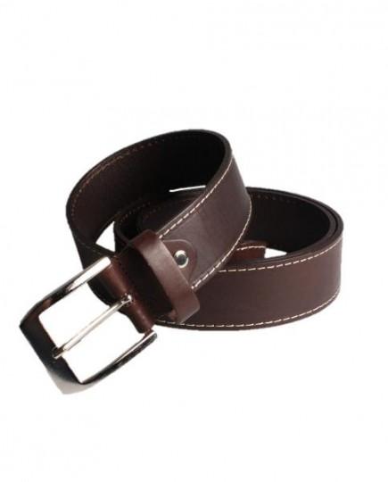 Cinturón Marrón de Piel para Hombre