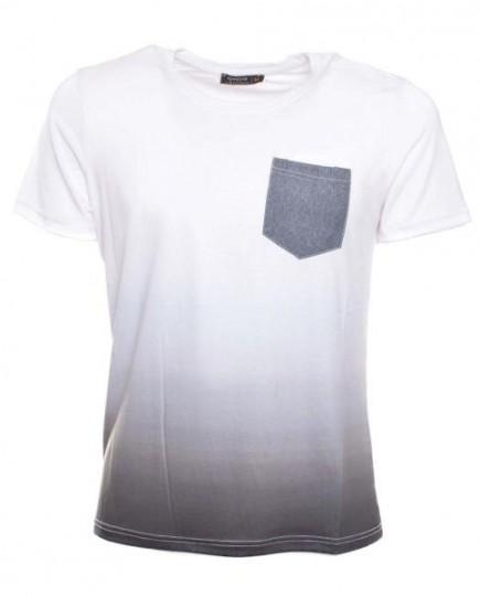 Camiseta Blanca Casual de Hombre