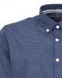 camisa estampada para hombre azul marino