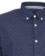camisa manga larga estampado rombos para hombre