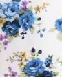corbata blanca de traje con diseño floral